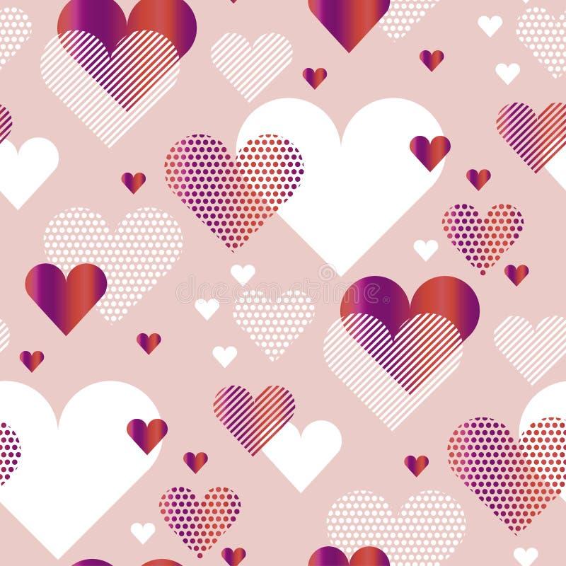 Blek rosig illustration för vektor för begrepp för färgförälskelsehjärta vektor illustrationer