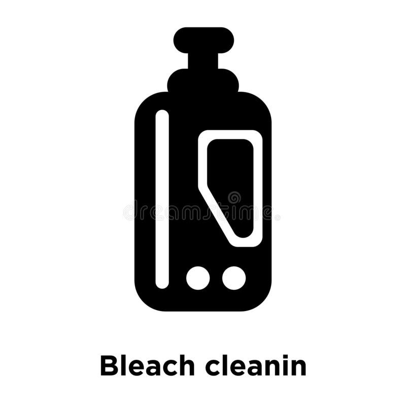Bleka cleaninsymbolsvektorn som isoleras på vit bakgrund, logoen Co vektor illustrationer