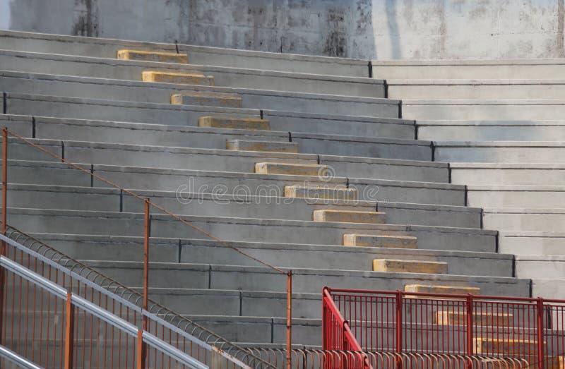 Blekare av ställningarna av stadion av baseball för gummina royaltyfri bild