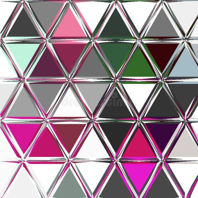 Bleke driehoeksachtergrond in wijn, witte, grijze kleuren stock fotografie