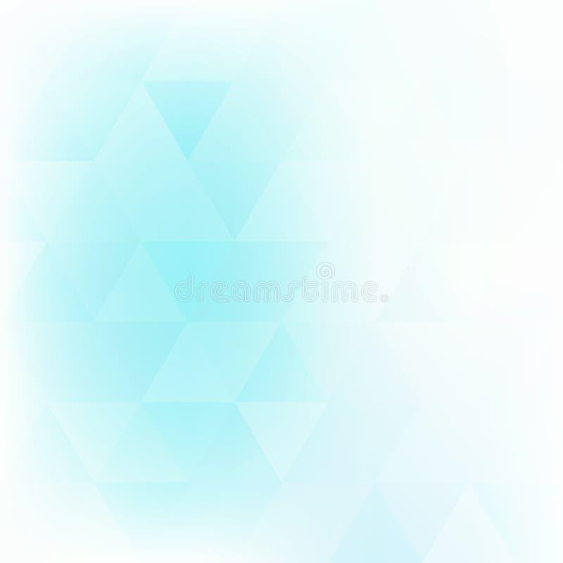 Bleke turkooise achtergrond geweven door driehoeken Vector patroon royalty-vrije illustratie