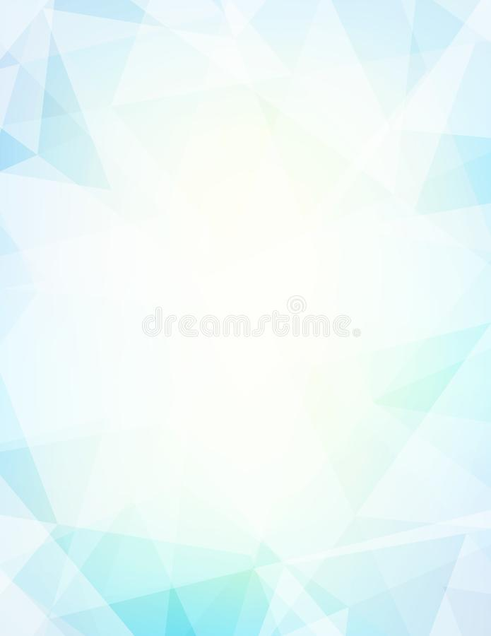 Bleke turkooise en lichtgele blauwe achtergrond vector illustratie