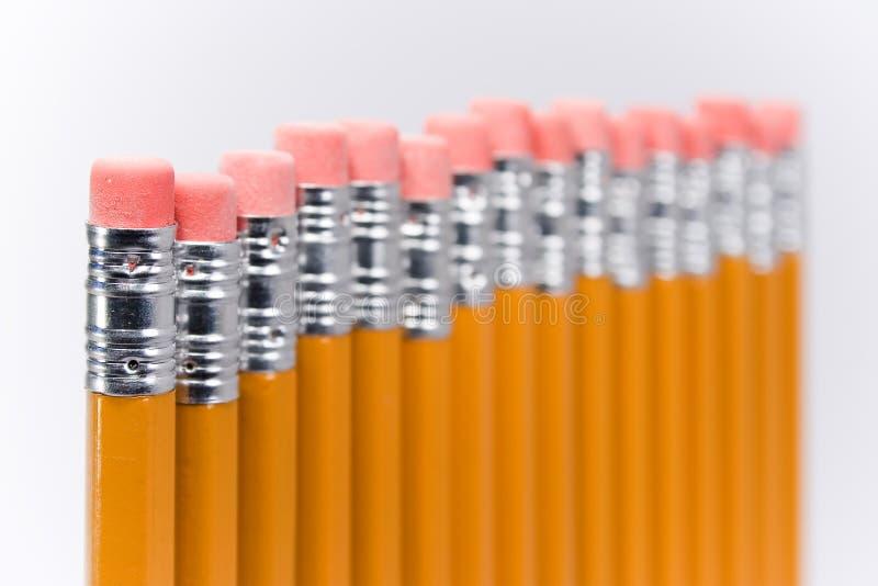 blekna blyertspennor royaltyfri bild