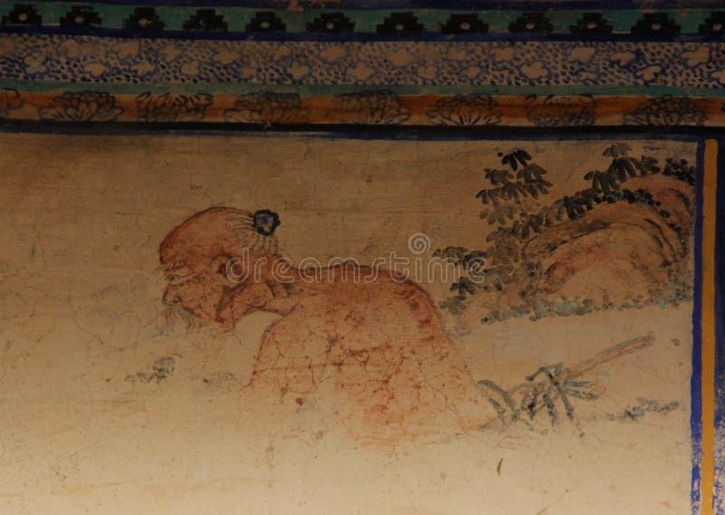 Blekna freskomålningen arkivbilder