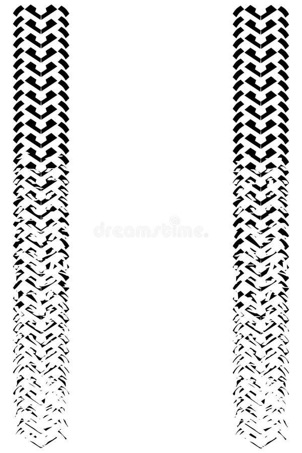 Blekna gummihjulspår royaltyfri illustrationer
