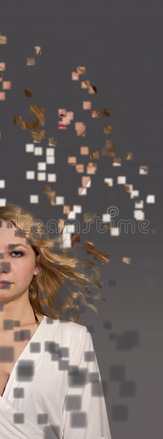 blekna ut kvinnan arkivbild
