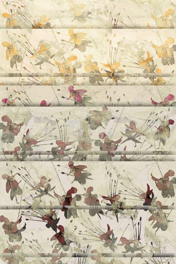 bleknad blommagrunge för bakgrund fjäril stock illustrationer
