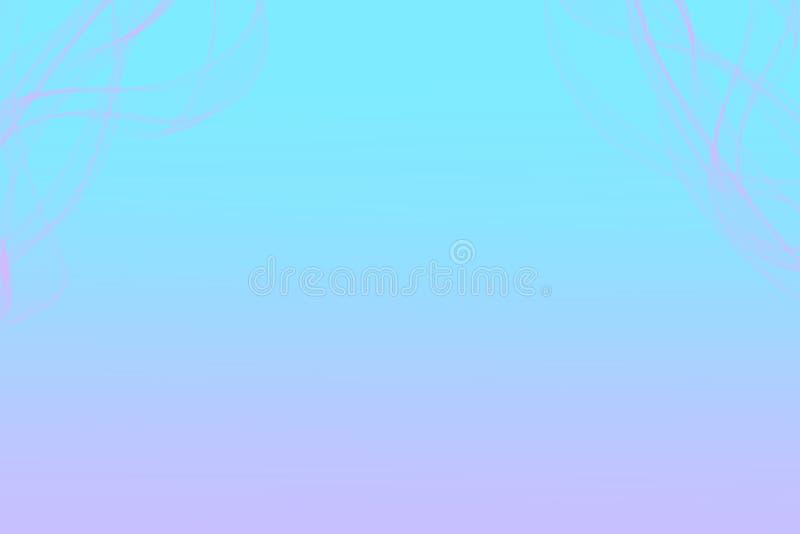 Blekt - blått blekna in i rosa bakgrund med rosa smokeyeffekt stock illustrationer