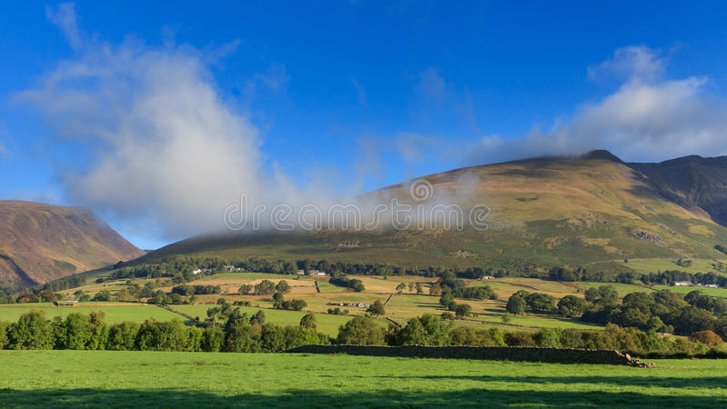 Blencathra Misty Morning stock foto