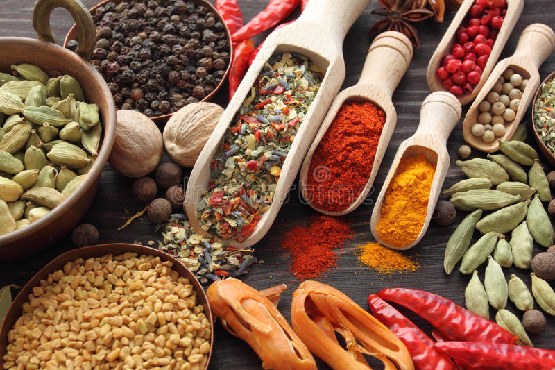 Blend of spices stock image