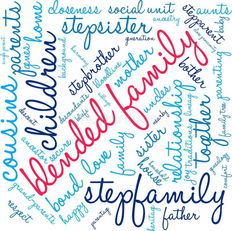 Blended Family Word Cloud vector illustration