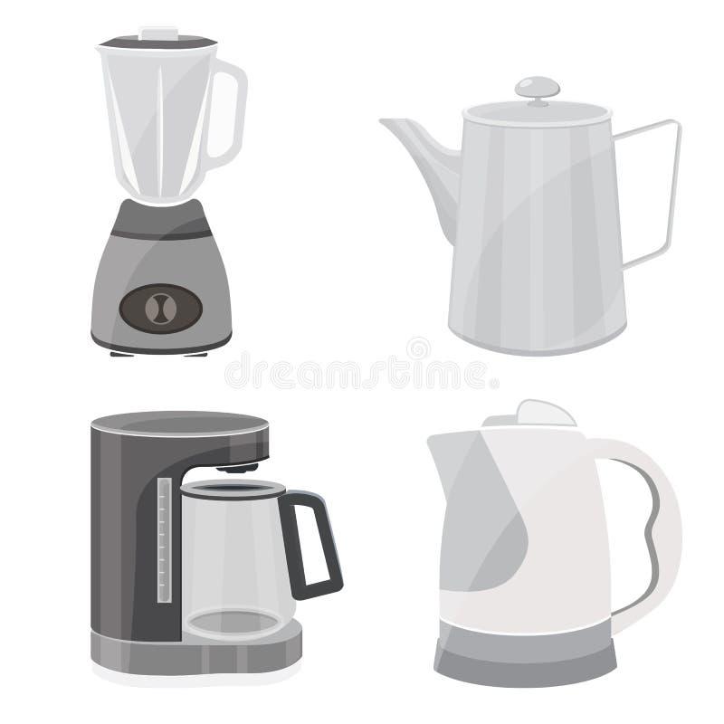 Blender, чайник, кофеварка бесплатная иллюстрация
