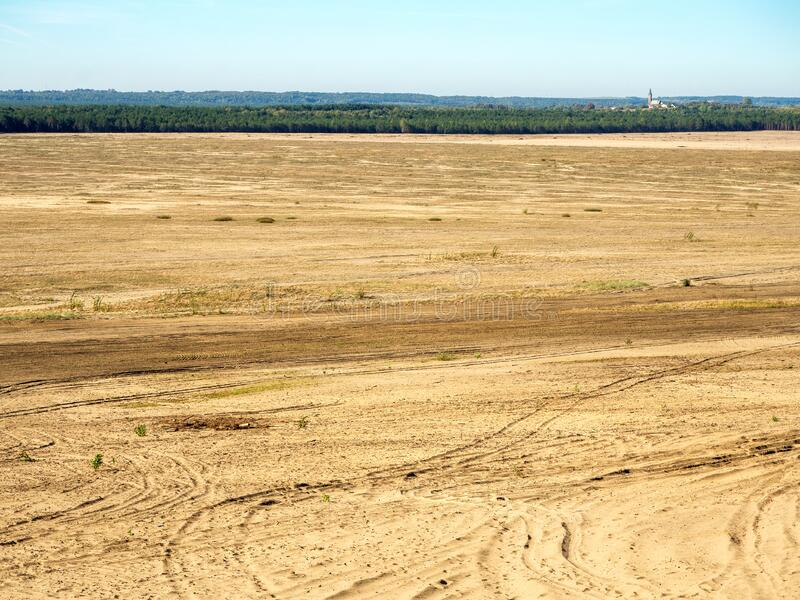 Blendow Desert in Poland stock photo
