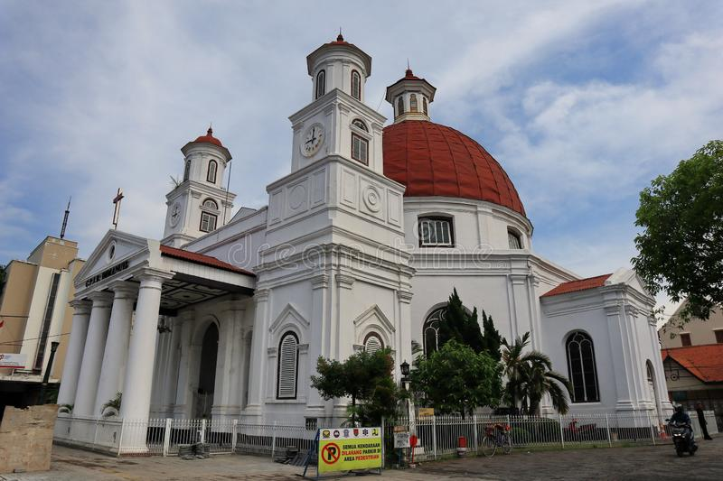 Blenduk Semarang Church is a church that was built in 1753 and is one of the landmarks in the old city. Blenduk Church is an icon of Semarang, the oldest Dutch royalty free stock images