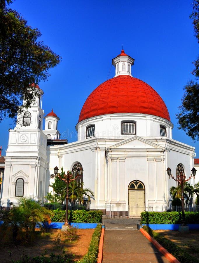 Blenduk-Kapelle Semarang stockbild