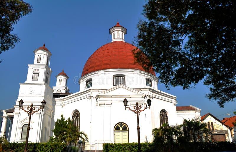 Blenduk-Kapelle Semarang stockbilder