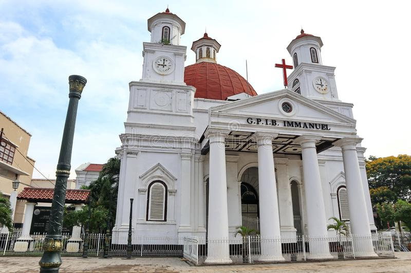 Blenduk Semarang Church is a church that was built in 1753 and is one of the landmarks in the old city stock image