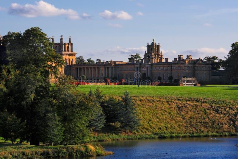 blenheim日宫殿英国视图woodstock 库存照片