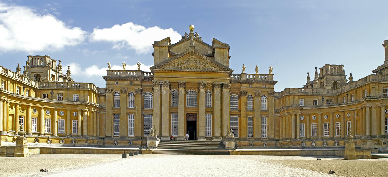 blenheim κεντρικό παλάτι οικοδόμ& στοκ φωτογραφία