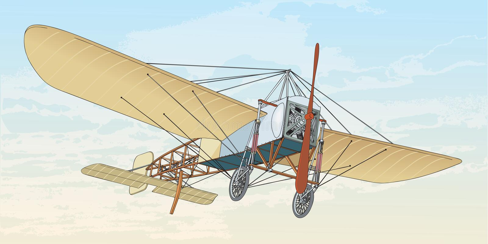 Bleriot XI illustration libre de droits