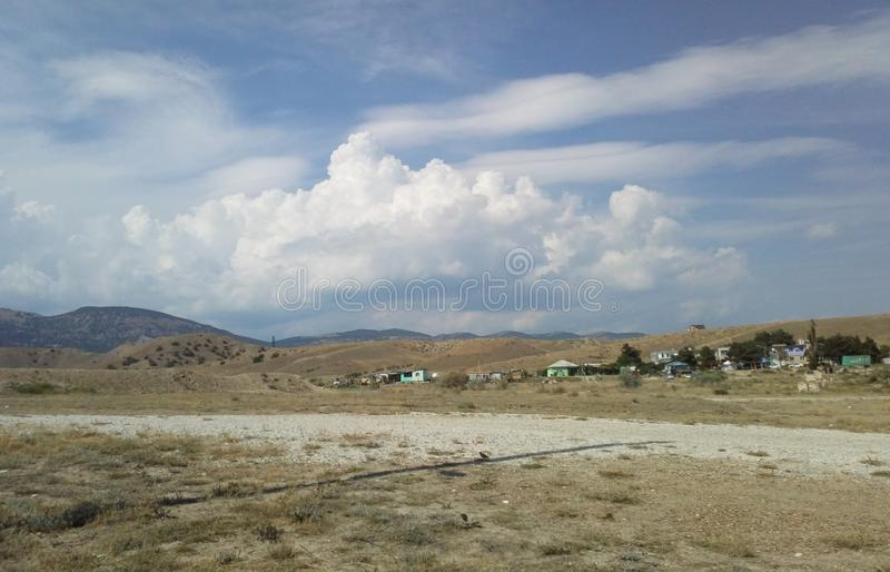 Blessed land. Crimea, Black sea. Quiet, serene place to stay. Sunny Valley, near the town of Sudak, the Republic of Crimea, summer 2018 stock photography