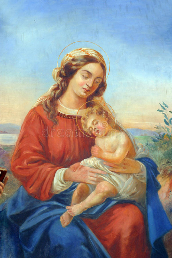 Blessed Virgin Mary royalty free stock photo