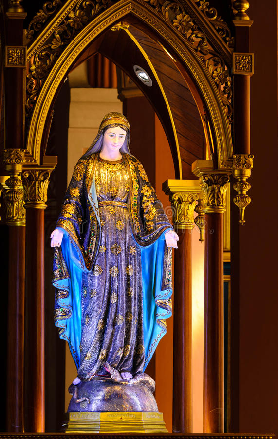Blessed Virgin mary figure royalty free stock photos
