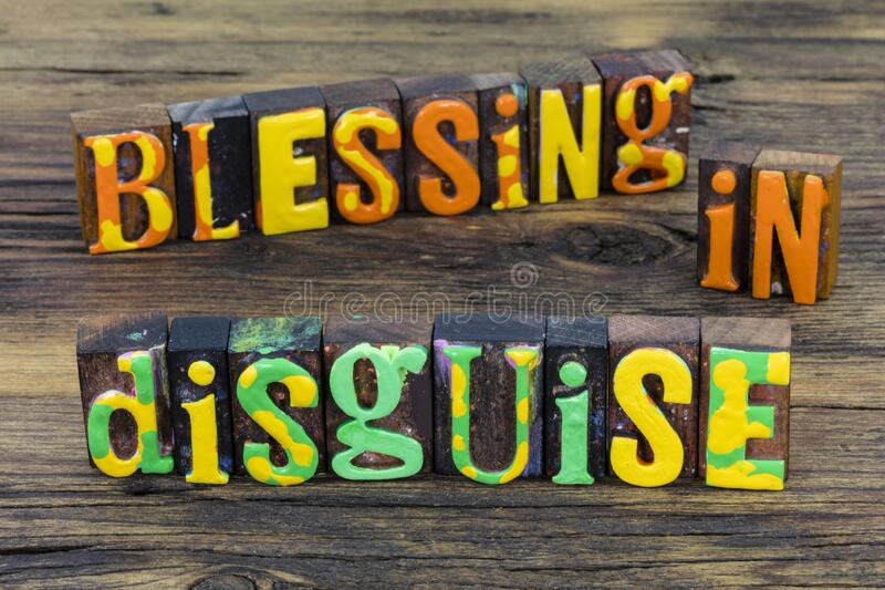 Blessing in disguise grateful thankful inspiration. Blessing in disguise is grateful thankful inspiration for blessed life of faith hope and love of peace and royalty free stock photo