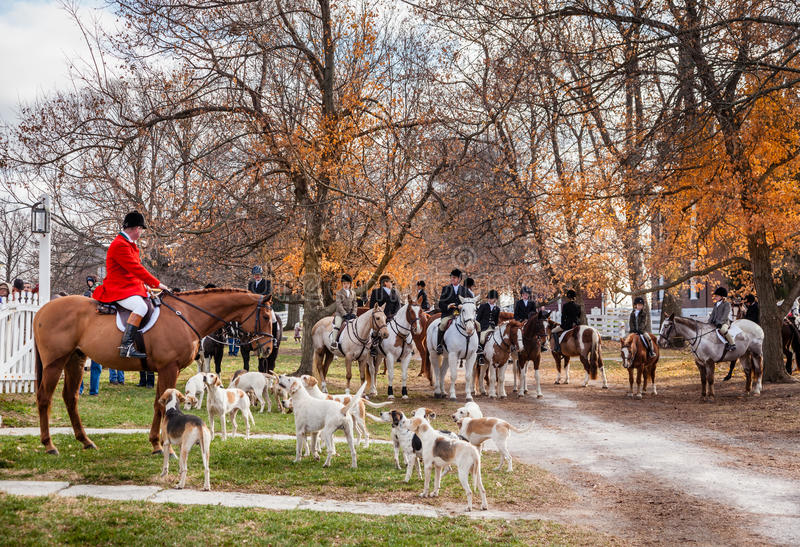 Download Blessing of the hounds editorial stock image. Image of people - 35216059