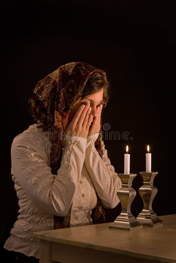 Download Blessing Over Candles Royalty Free Stock Photography - Image: 6476507
