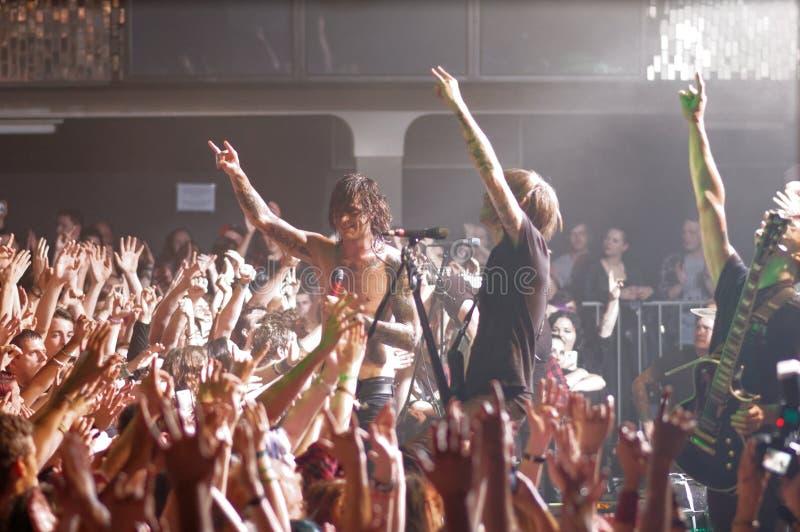 Blessthefall concert Lucerna Musicbar Praha stock photos