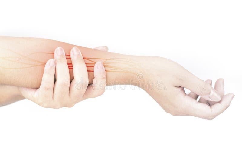 Blessure de nerf d'avant-bras image stock