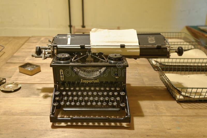 Bletchley park, rocznika maszyna do pisania obraz royalty free