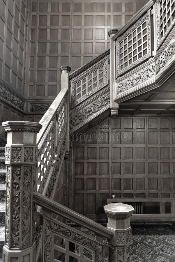 Free Bletchley Park, Vintage Wooden Staircase Stock Image - 128079371