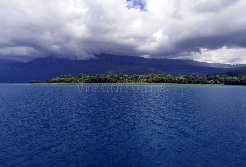 Bleu 3 d'Ohrid photographie stock libre de droits