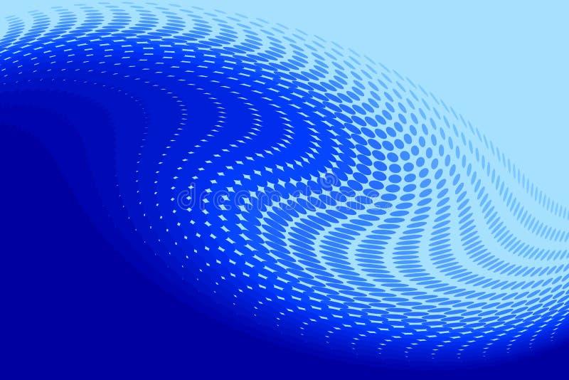 Bleu abstrait illustration de vecteur
