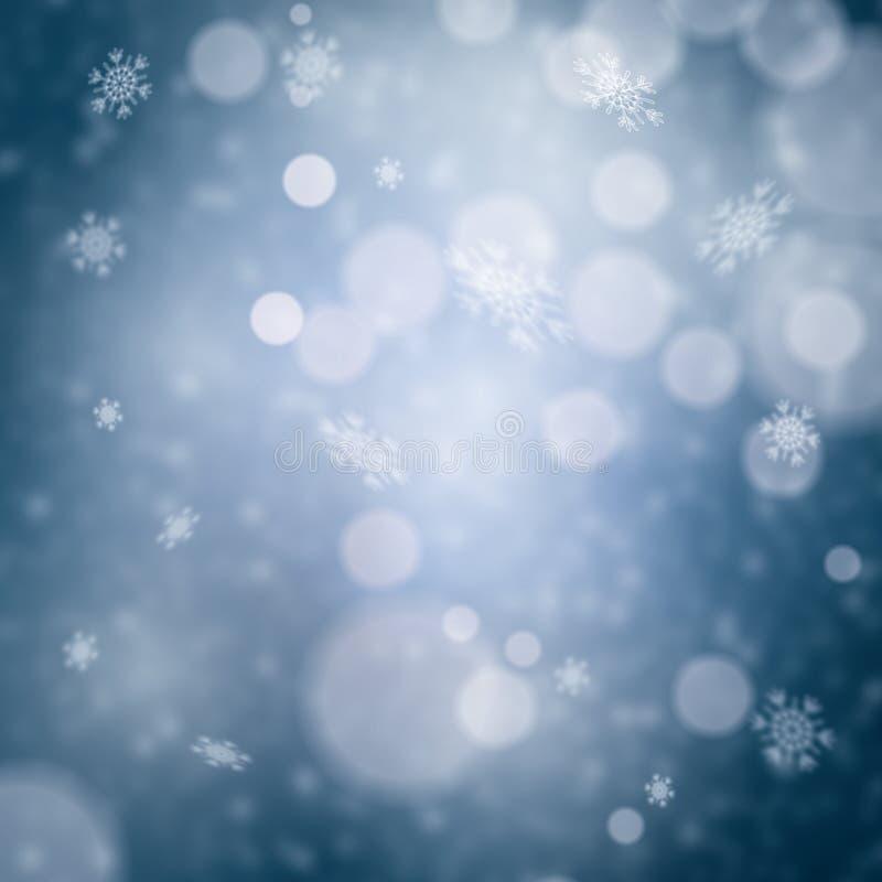 Bleu abstrait d'hiver brouillé illustration libre de droits