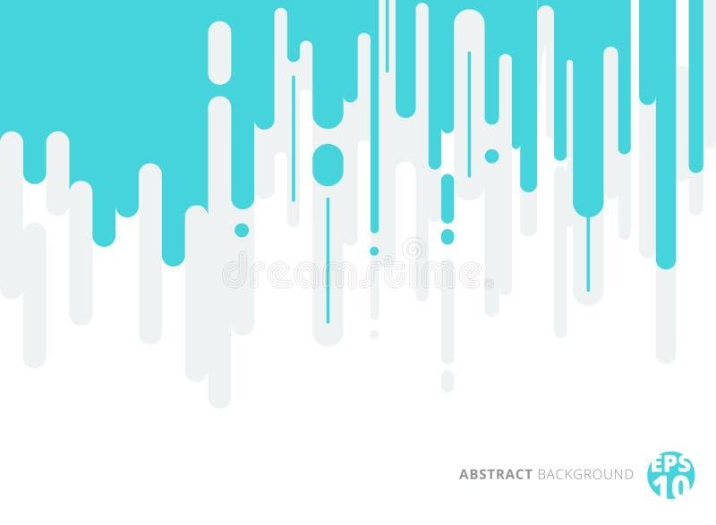 Bleu abstrait et le gris ont arrondi des lignes Transitio tramé vertical illustration libre de droits