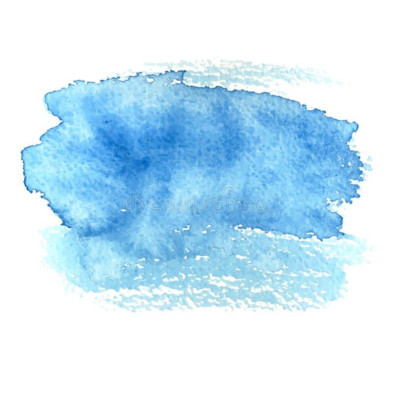 Bleu abstrait grunge d'aquarelle de peinture de brosse de fond illustration stock