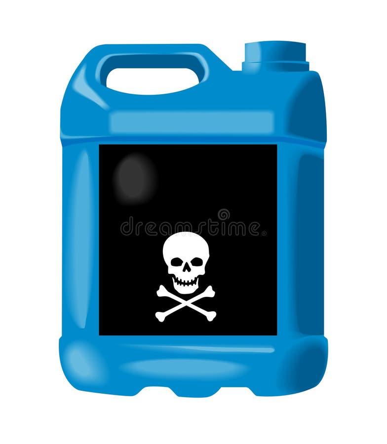 Bleu antigel de bouteille illustration libre de droits