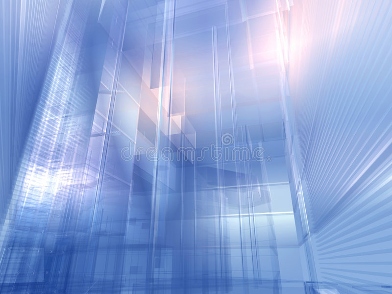 Bleu argenté architectural illustration libre de droits