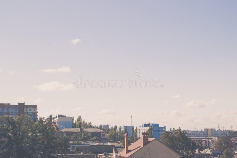 Bleu beau ciel abstrait arrière-plan photo stock