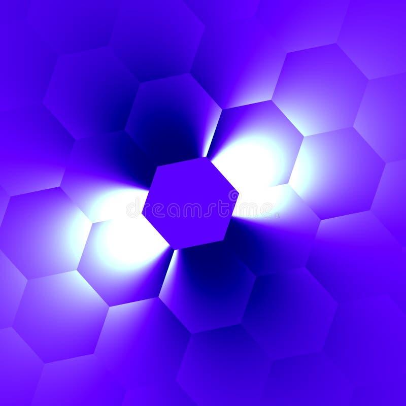 Bleu blanc de faisceau Idées neuves Tache floue molle La vue supérieure rendent Décor de page grille de pixel La magie a éclaté l illustration de vecteur