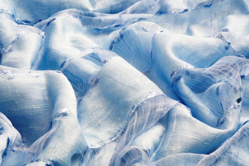 Bleu-clair drapez le tissu mou images libres de droits