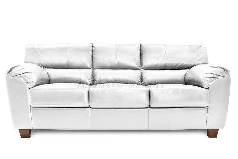 Bleu confortable de sofa de trois sièges photo libre de droits