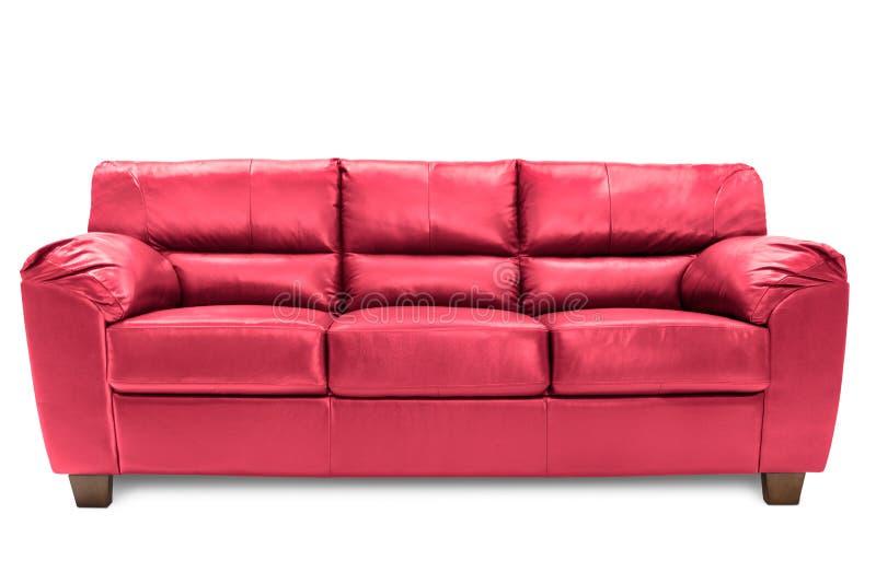 Bleu confortable de sofa de trois sièges photographie stock