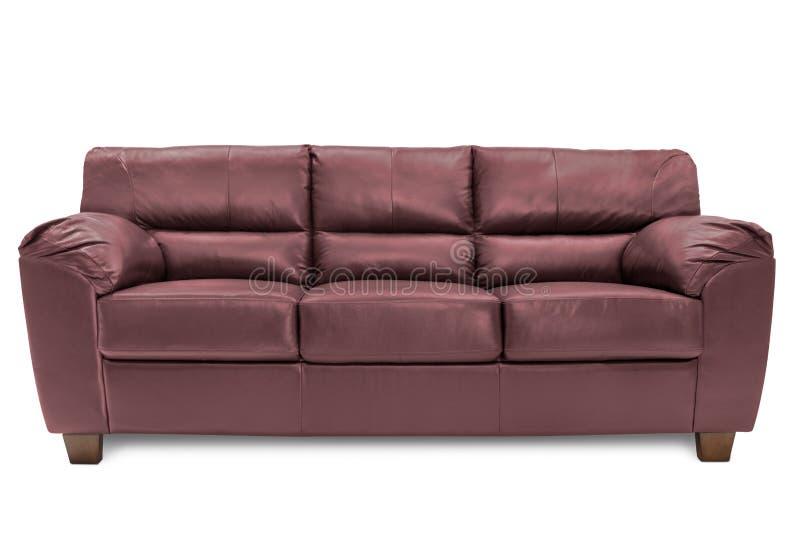 Bleu confortable de sofa de trois sièges photos stock