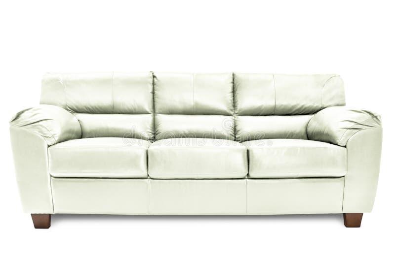 Bleu confortable de sofa de trois sièges image libre de droits