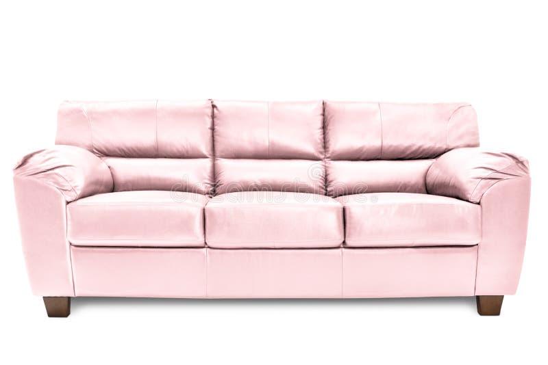 Bleu confortable de sofa de trois si?ges photographie stock libre de droits