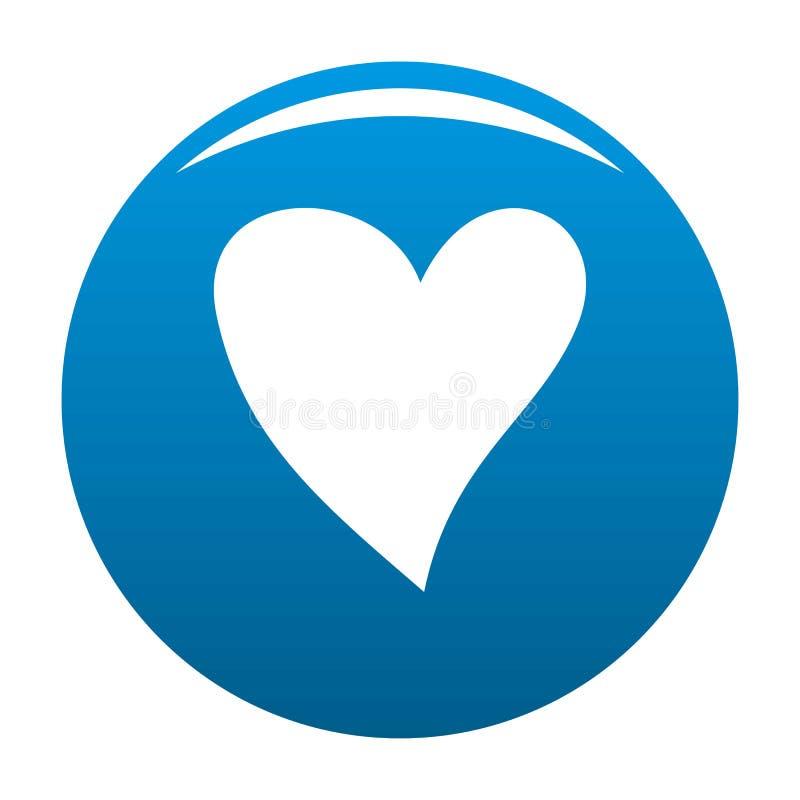 Bleu cruel de vecteur d'icône de coeur illustration libre de droits